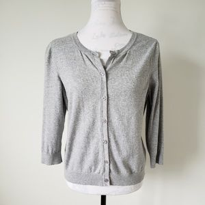 The Limited Gray Cardigan Women's Large